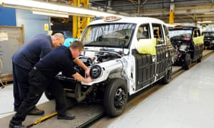 The London Taxi Company's production of the famous black cab at its Coventry plant.