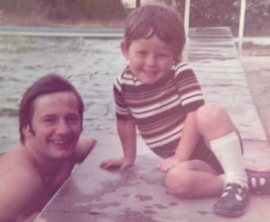 Snapshot … Christian Stretton with his dad c1976