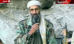 Osama bin Laden makes one of his many broadcasts. The al-Qaida leader became frustrated when many were ignored or cut by news organisations.
