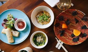 The hotel's restaurant specialises in south-east Asian dishes.