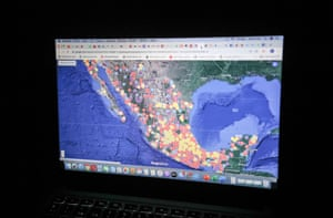 A map of crimes against women on Maria Salguero's computer