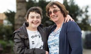 Chloe and her mum, Fabienne.