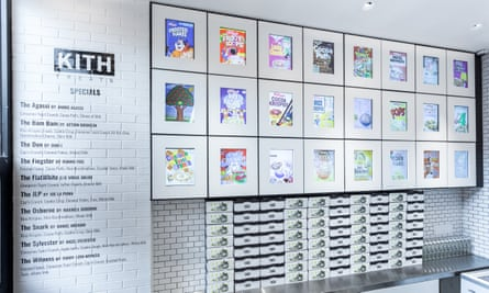 Kith's cereal wall