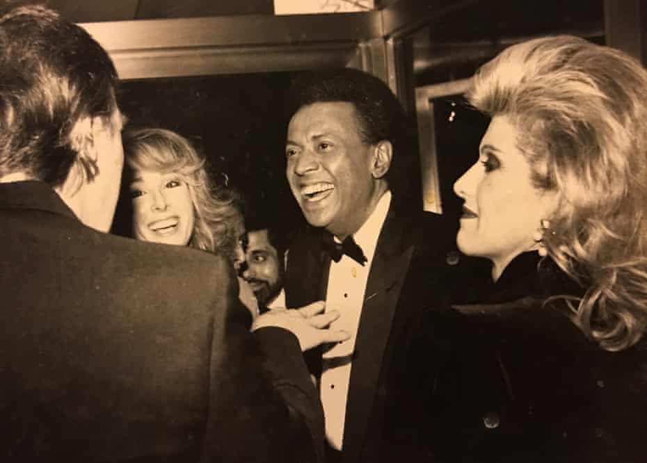 From left: Donald Trump, E Jean Carroll, her then husband, John Johnson, and Ivana Trump, at a party in 1987
