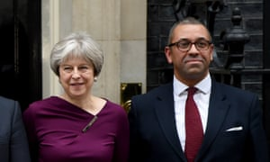 James Cleverly with Theresa May in Downing Street.