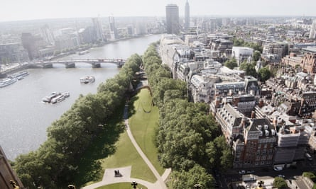 The centre is to be built in Victoria Tower Gardens next to the River Thames in central London