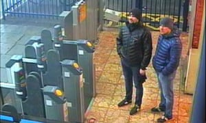 CCTV image issued by the Metropolitan police of Ruslan Boshirov and Alexander Petrov at Salisbury train station.