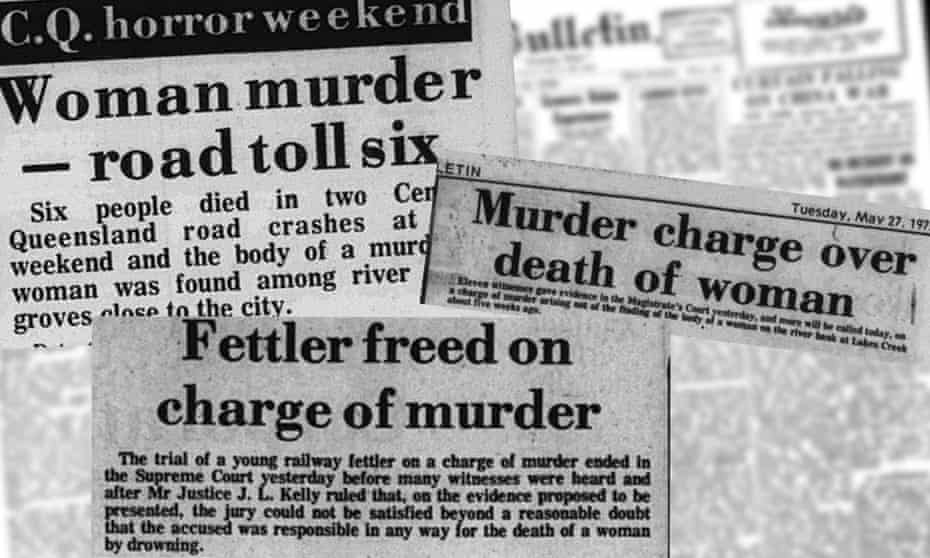 Cutouts from the Rockhampton Morning Bulletin reporting on the killing of Queenie Hart.