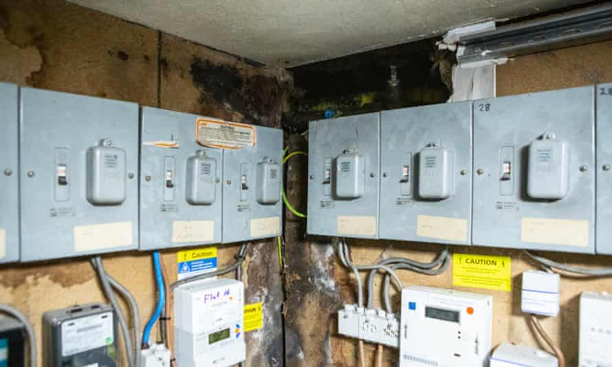 Damp and moisture in the electrical room, 147 Gloucester Road