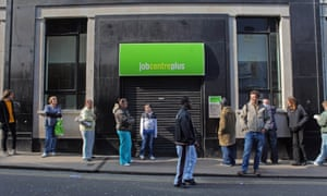 People outside a jobcentre in Bristol in 2009