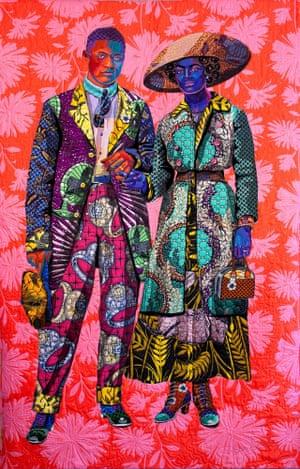Broom Jumpers by textile artist Bisa Butler.