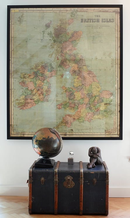 The vintage map once hung in owner Hernando Alvarez's primary school in Colombia.