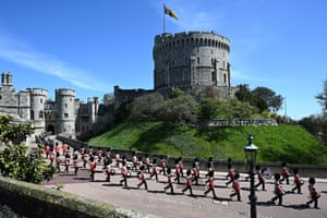 Foot Guards Band marching