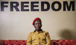 Julius Malema in Johannesburg, South Africa.