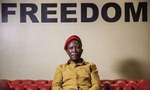 Julius Malema in Johannesburg, South Africa.