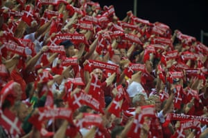 The Denmark fans are happy.