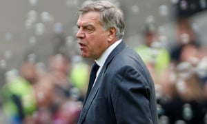 Everton's manager Sam Allardyce during the 3-1 defeat at West Ham on Sunday.