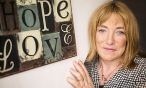 Kellie Maloney [formerly boxing promoter Frank Maloney] photographed at home in South London [with her dogs Louis and Winnie].