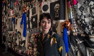 Sarah Contos with her work Sarah Contos Presents: The Long Kiss Goodbye
