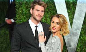 Cyrus and Hemsworth, who have separated after less than a year of marriage, seen here in 2012.