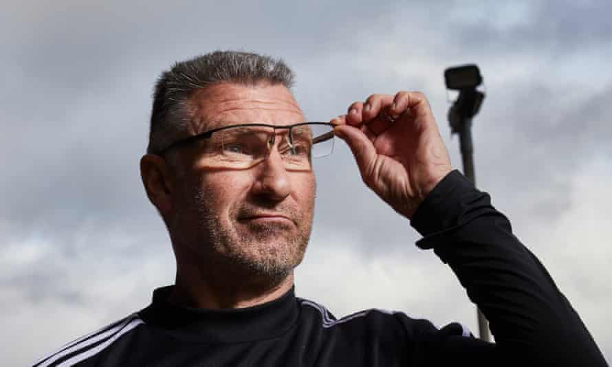 Nigel Pearson, pictured in March, contracted coronavirus in the spring but says: 'I feel OK, I think I look all right.'