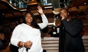 Harlem producer Crystal Caines with A$AP Ferg.