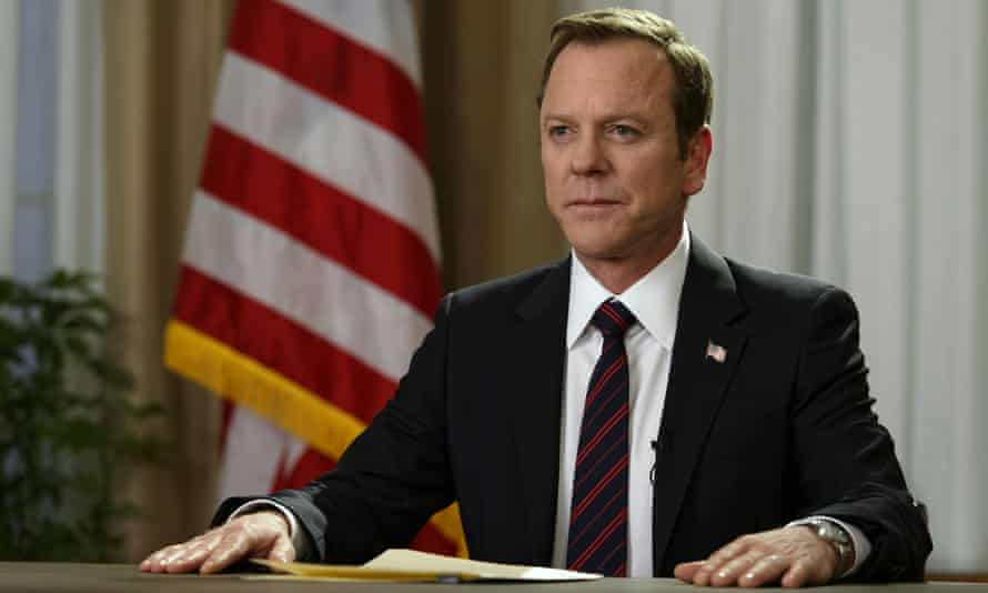 The man with the nuclear codes ... Kiefer Sutherland as Tom Kirkman in Designated Survivor.