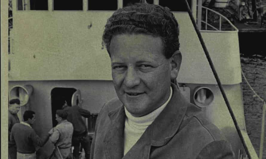 Peter Warner aboard his fishing boat in 1967