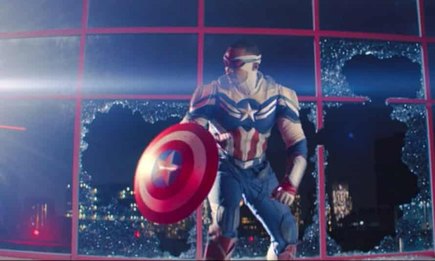 How's about that for an entrance? Sam Wilson becomes Captain America.