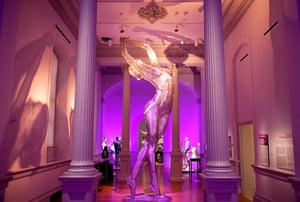 """""""Truth is Beauty"""" by March Cochrane"""" is seen during a preivew of the No Spectators: The Art of Burning Man exhibition at the Renwick Gallery in Washington, DC on March 29, 2018. The show brings artwork from the Nevada desert gathering to Washington for the first time. The exhibition runs from March 30, 2018 to January 21, 2019. / AFP PHOTO / Mandel NGAN / RESTRICTED TO EDITORIAL USE - MANDATORY MENTION OF THE ARTIST UPON PUBLICATION - TO ILLUSTRATE THE EVENT AS SPECIFIED IN THE CAPTIONMANDEL NGAN/AFP/Getty Images"""