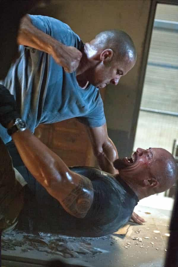 Diesel and Johnson in Fast Five
