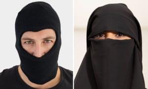 A man wearing a balaclava and a woman wearing a niqab e445a3185