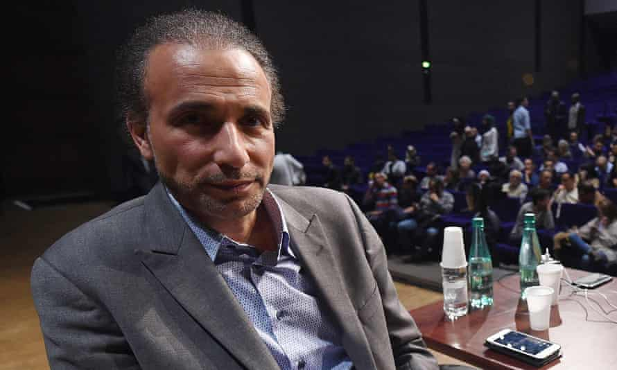 Tariq Ramadan at a conference in France