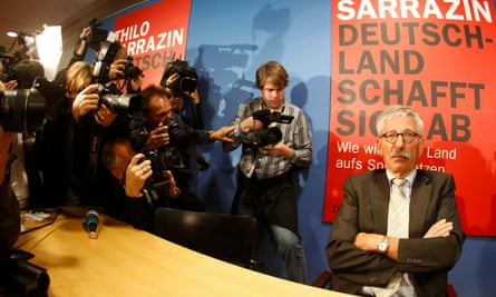 Thilo Sarrazin at the launch of his book Germany Abolishes Itself, Berlin, 2010