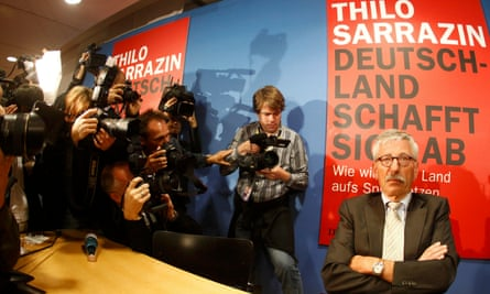 Thilo Sarrazin at a launch of his book Deutschland schafft sich ab (Germany is Digging its Own Grave) in Berlin in 2010.