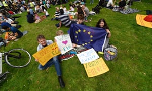 The MoreInCommon picnic against Brexit in Green Park, London.