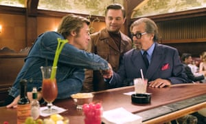 Brad Pitt, Leonardo DiCaprio and Al Pacino in Once Upon a Time in Hollywood.