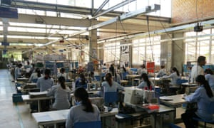 Workers at the Pactics factory in Cambodia