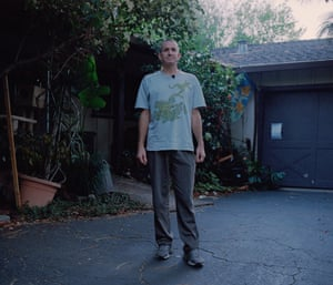 Scott Munson in his garden in California.