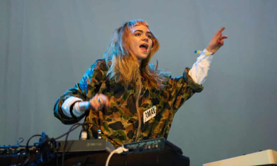… Grimes playing at Field Day festival.