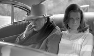Winston Churchill out for a drive with his granddaughter, Celia Sandys, at Monte Carlo, in April 1963
