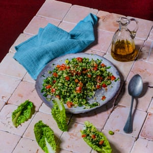 Tabbouleh – parsley and mint salad with burghul.
