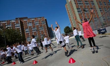 Children play at the Regent Park development in Toronto in 2012.
