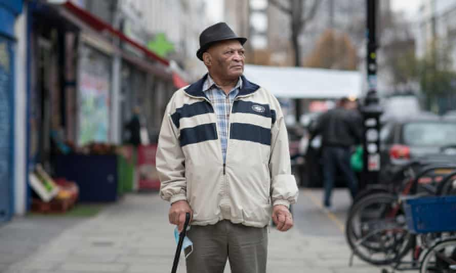 Dolston Isaac, 88, has lived in Notting Hill for 60 years. Dolston features in Steve McQueen's BBC film series Small Axe.