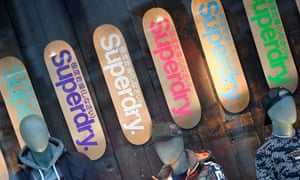 superdry signs inside a store