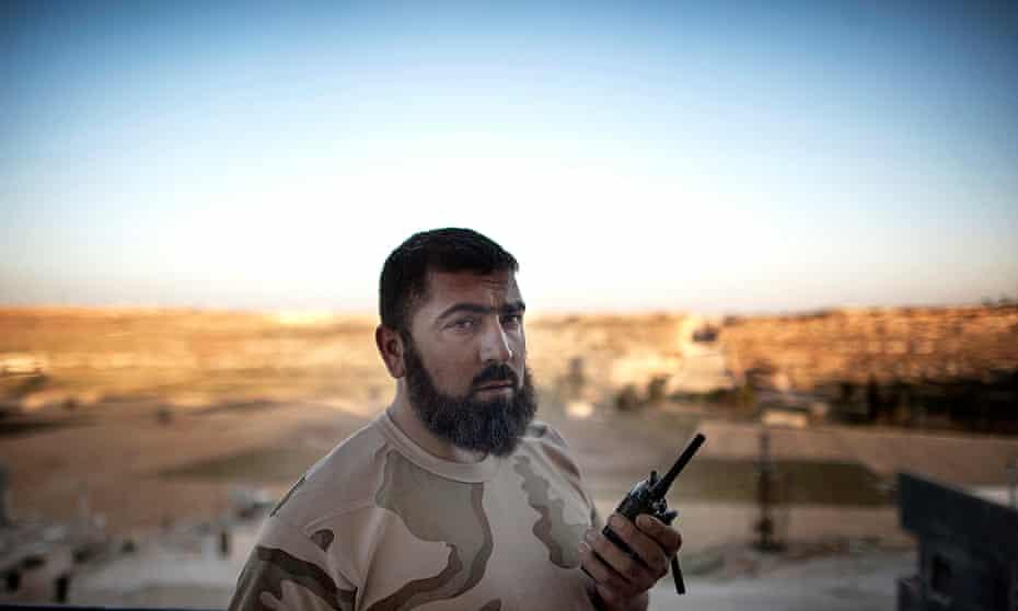 Abu Assad, rebel commander of Aleppo's tunnel forces