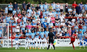 Huddersfield Town lost an early pre-season match at Accrington Stanley.