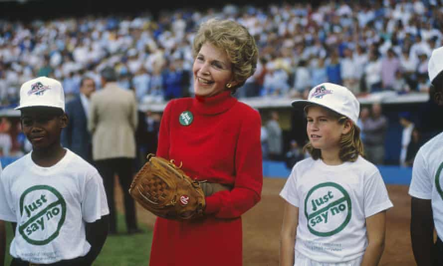 """Nancy Reagan in 1988. 'Much like abstinence-based sex education, Dare and """"Just Say No"""" spread fear and ignorance instead of information.'"""