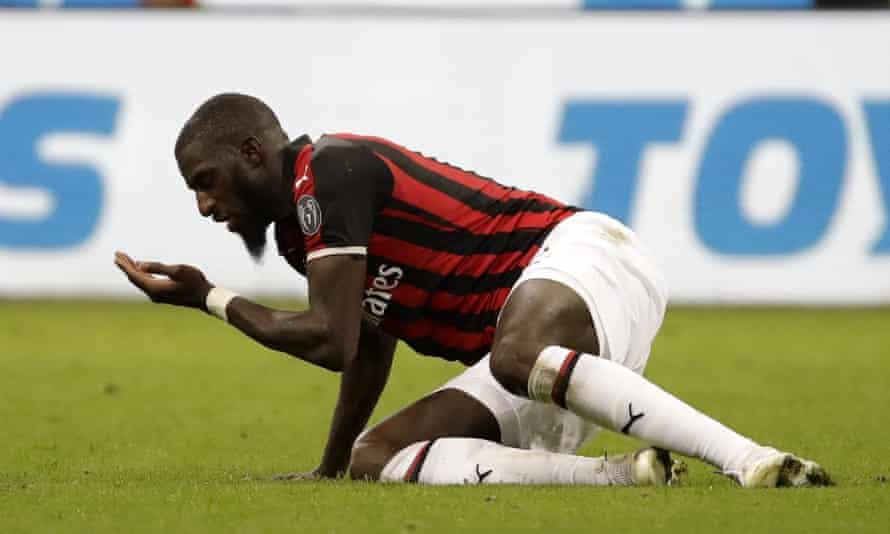 Milan's Tiémoué Bakayoko was the subject of racist insults while the teams were warming up on Wednesday.