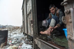 Photojournalism: The Barracks of Belgrade by Hannah Maule-Ffinch'Nearly 2,000 migrants, mainly from Syria, Iraq and Afghanistan, were living in brick warehouses behind the city's main transport hub,' says Maule Ffinch. 'When I visited, the temperature had dropped to minus 16, so people were burning highly toxic creosote-soaked railway sleepers to try and stay alive. The Serbian government requested charities stop giving out aid so as not to encourage more arrivals, so these people had no toilets, water or beds and were living among human excrement amid piles of stinking rubbish'